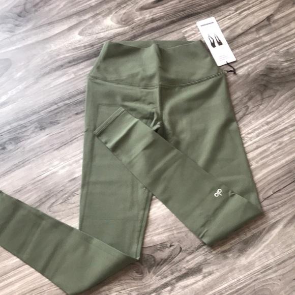 d7390dcea2 ALO Yoga Pants | High Waist Alo Airbrush Leggings Jungle Nwt | Poshmark